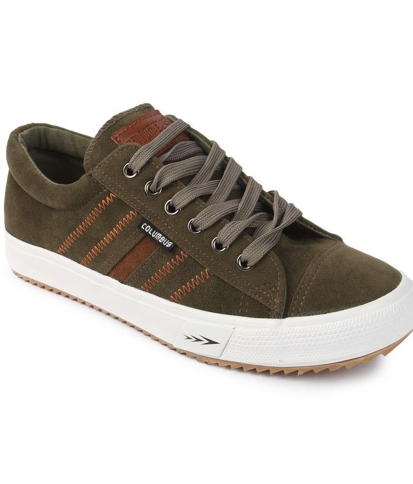 97993b97adc94e COLUMBUS Green Sneaker Shoes - Buy COLUMBUS Green Sneaker Shoes Online at Best  Prices in India on Snapdeal