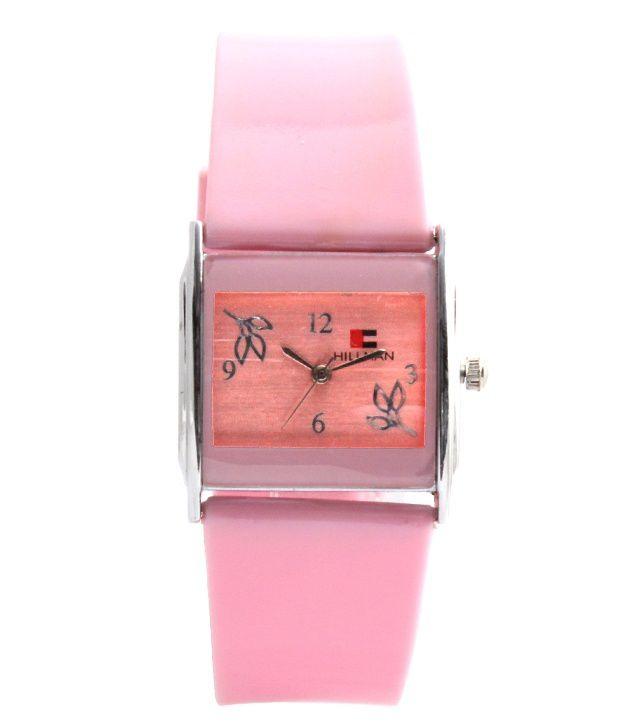 Hillman Pink Leather Wrist Watch For Women