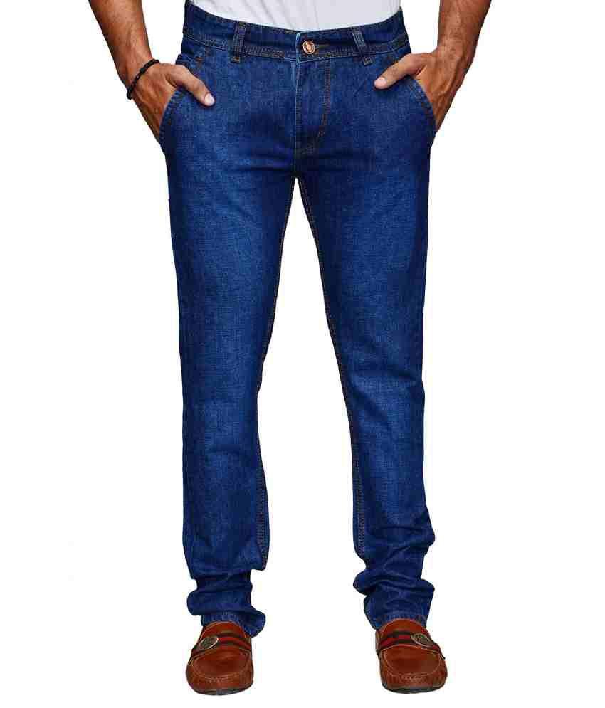 Ansh Fashion Wear Fashion Wear Blue Regular Fit Faded Jeans