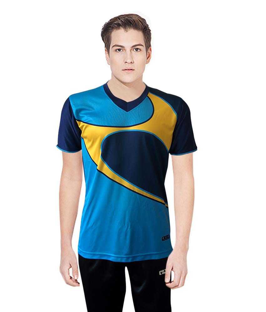 NBS Sea Blue Polyester Sports Jersey For Men