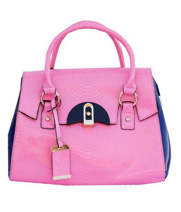 MadeinMyIndia Blue P.U. Tote Bag