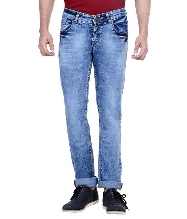 Passport Blue Slim Fit Jeans