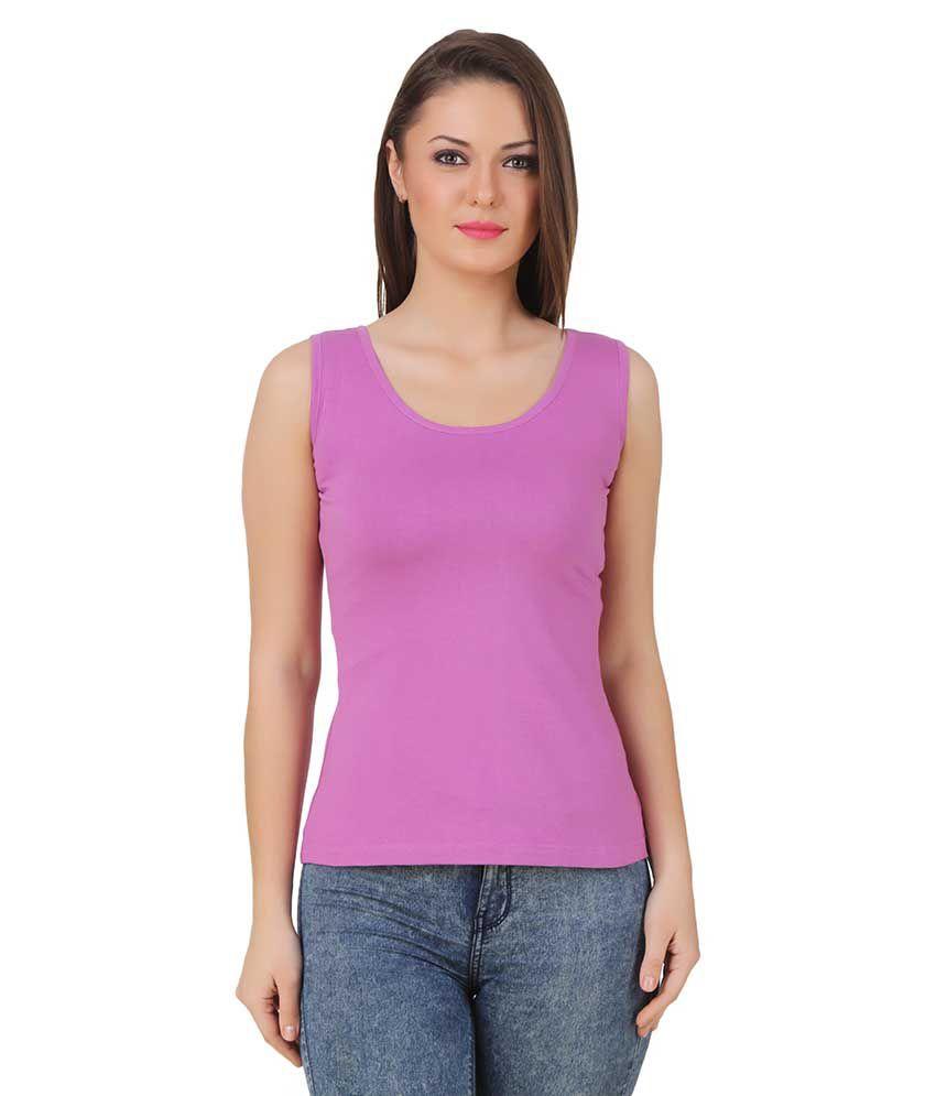 Texco Cotton Blended Tanks - Purple