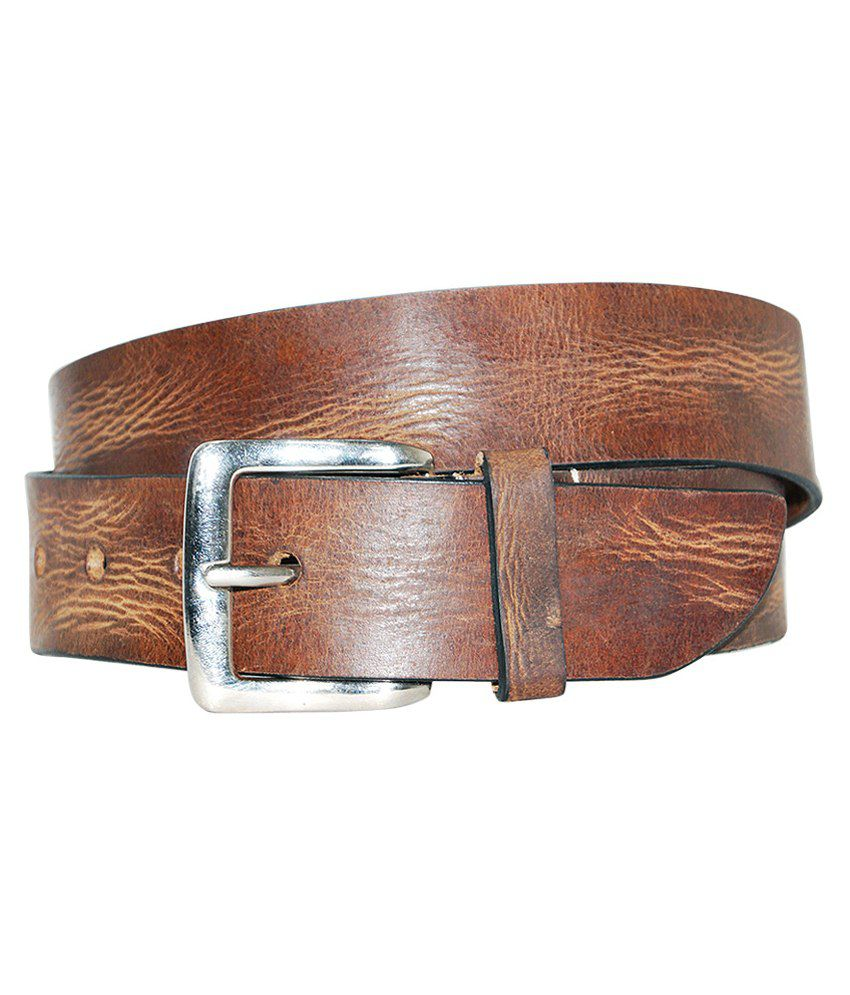 Hadwin Brown Leather Belt For Men