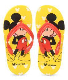 Disney Yellow Flip Flops