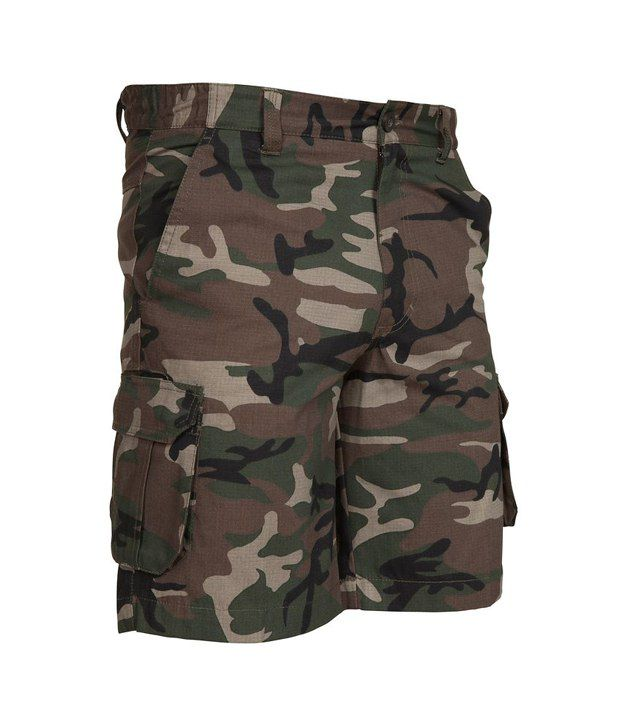 SOLOGNAC Bermuda 500 Camo Green By Decathlon