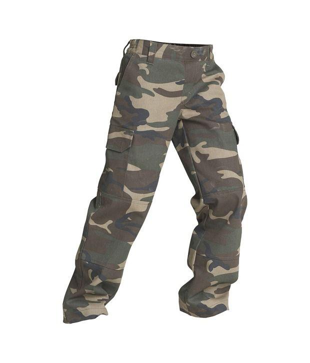 SOLOGNAC Steppe 100 Junior Trouser Camo Green