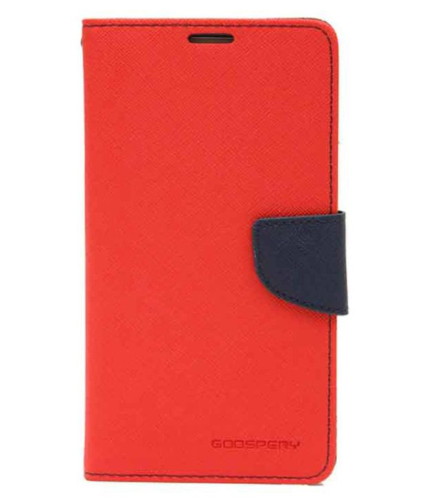 Fabmart Flip Cover for Micromax Canvas Selfie 3 Q348 - Red