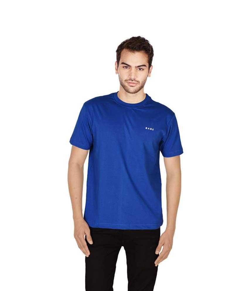 Bare Blue Round T Shirts