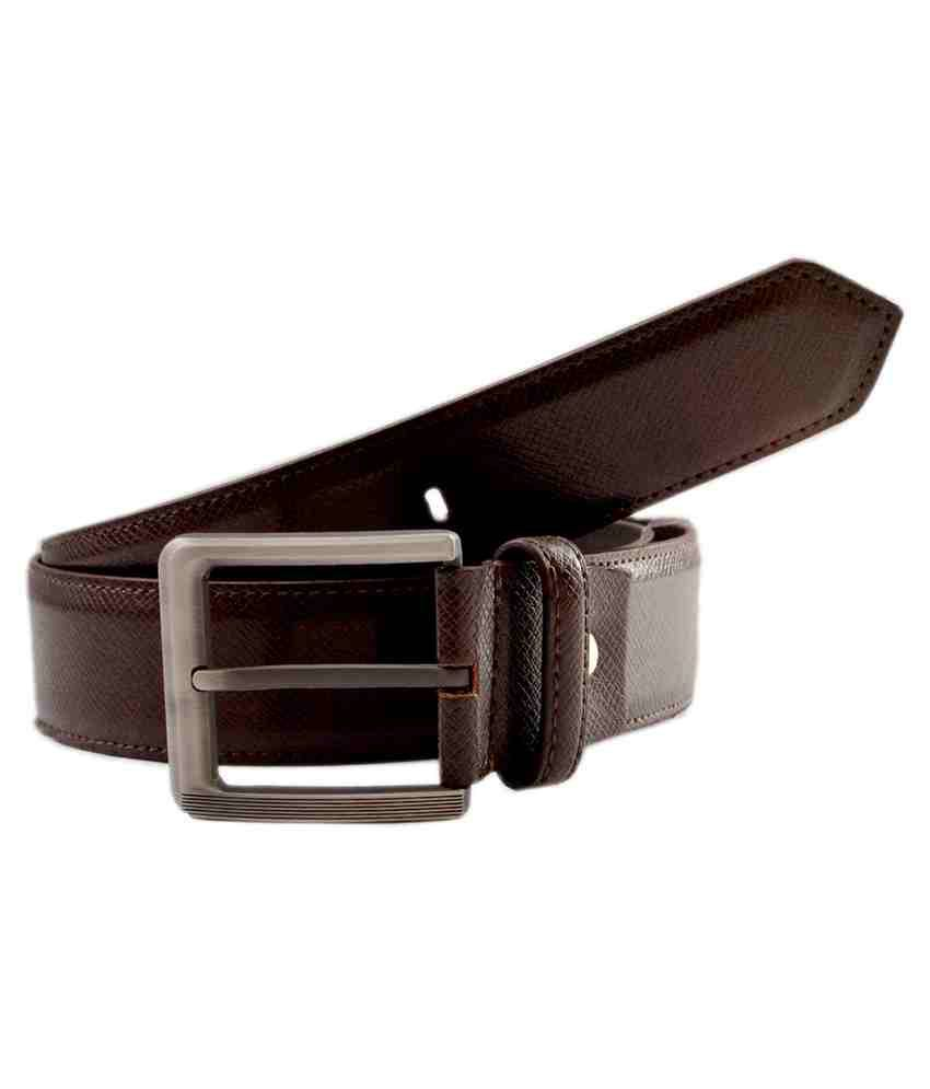 Pacific Gold Brown Non Leather Casual Belt For Men