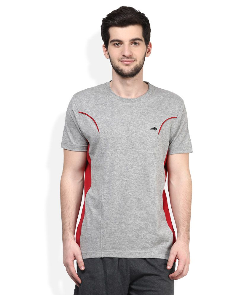 2go Grey Round Neck T-Shirt