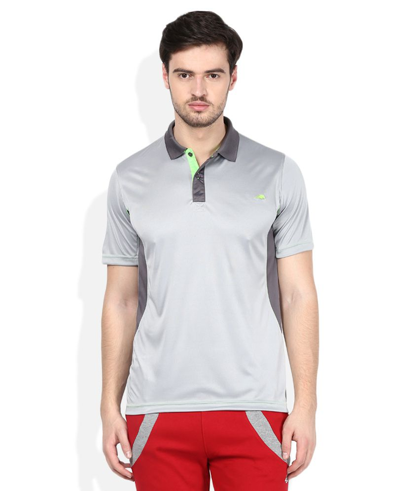 2go Grey Solids Polo T-Shirt