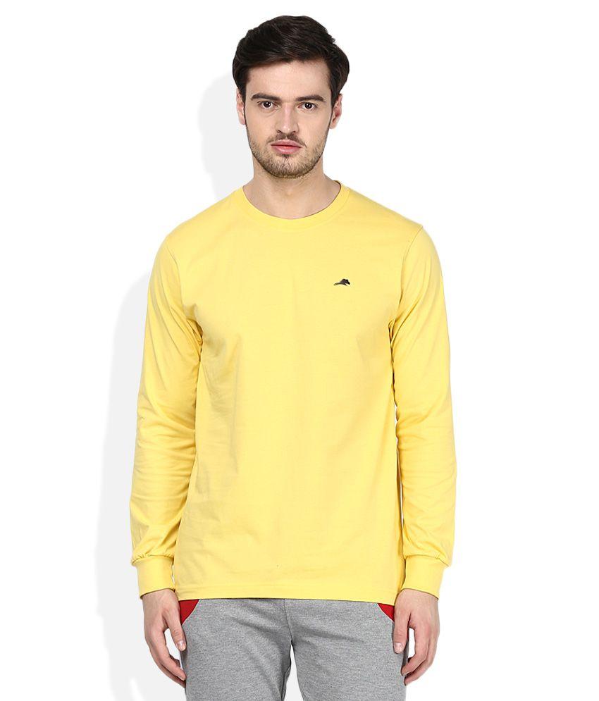 2go Yellow Round Neck T-Shirt