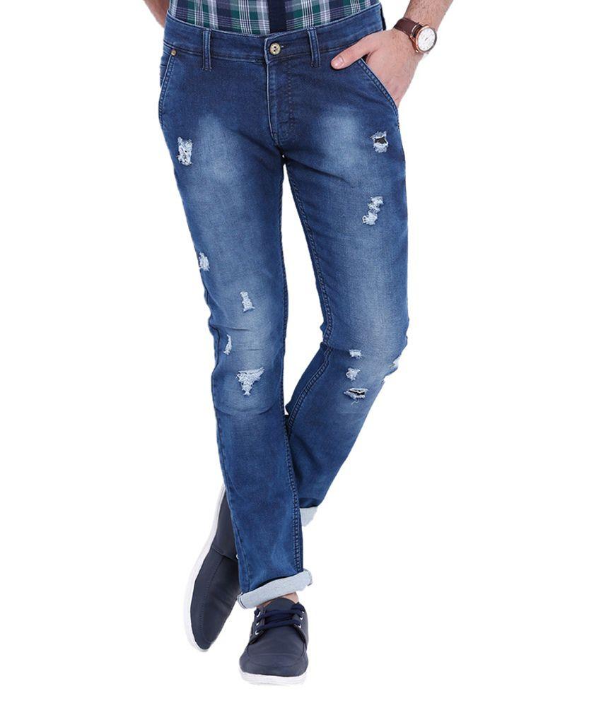 Bandit Blue Slim Fit Washed Jeans