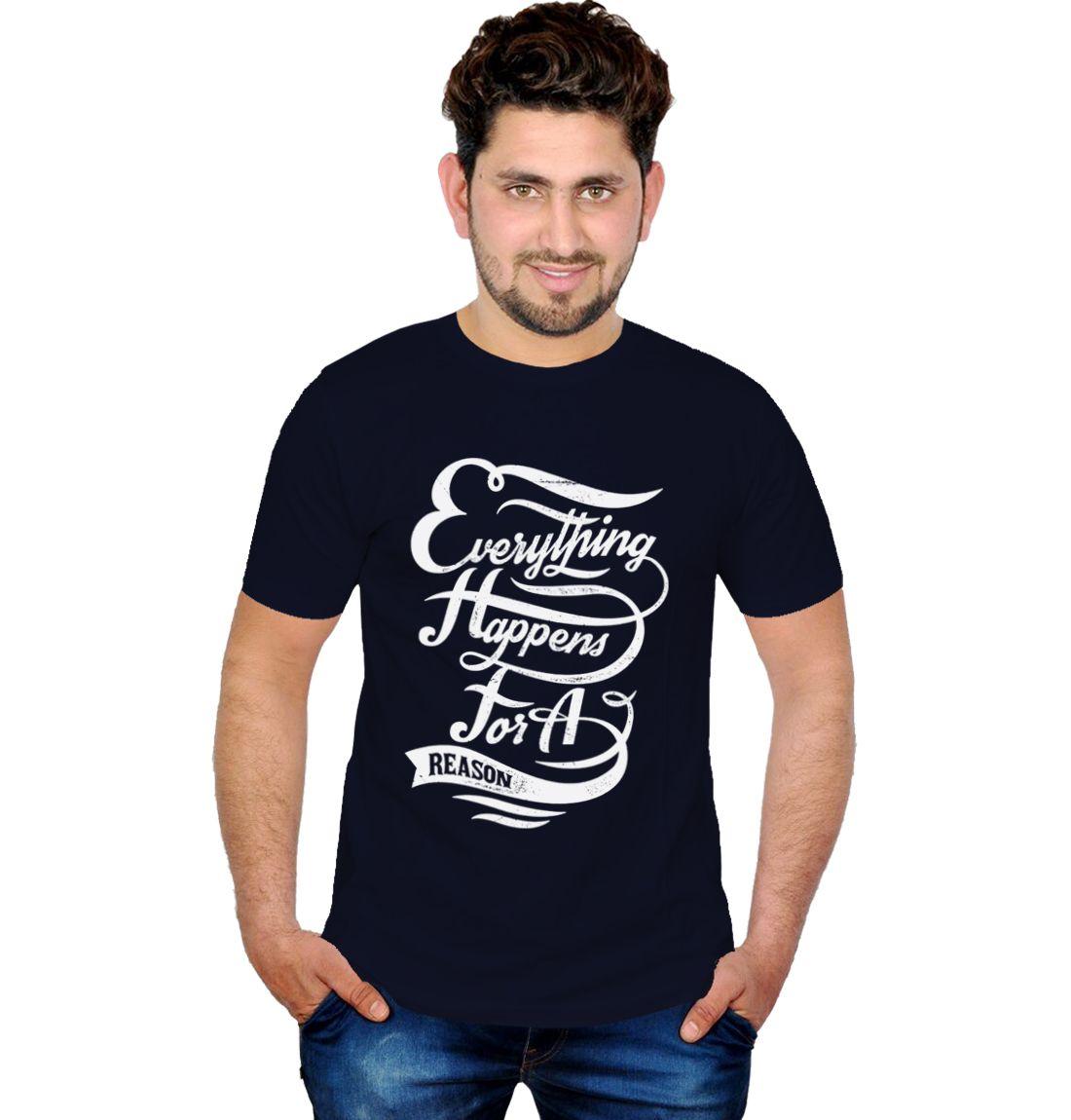 Inkit Navy Round T Shirts