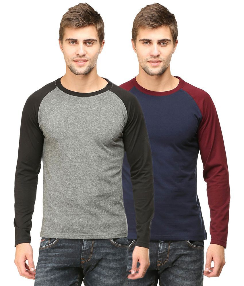 Tee Talkies Multi Round T Shirts Pack of 2