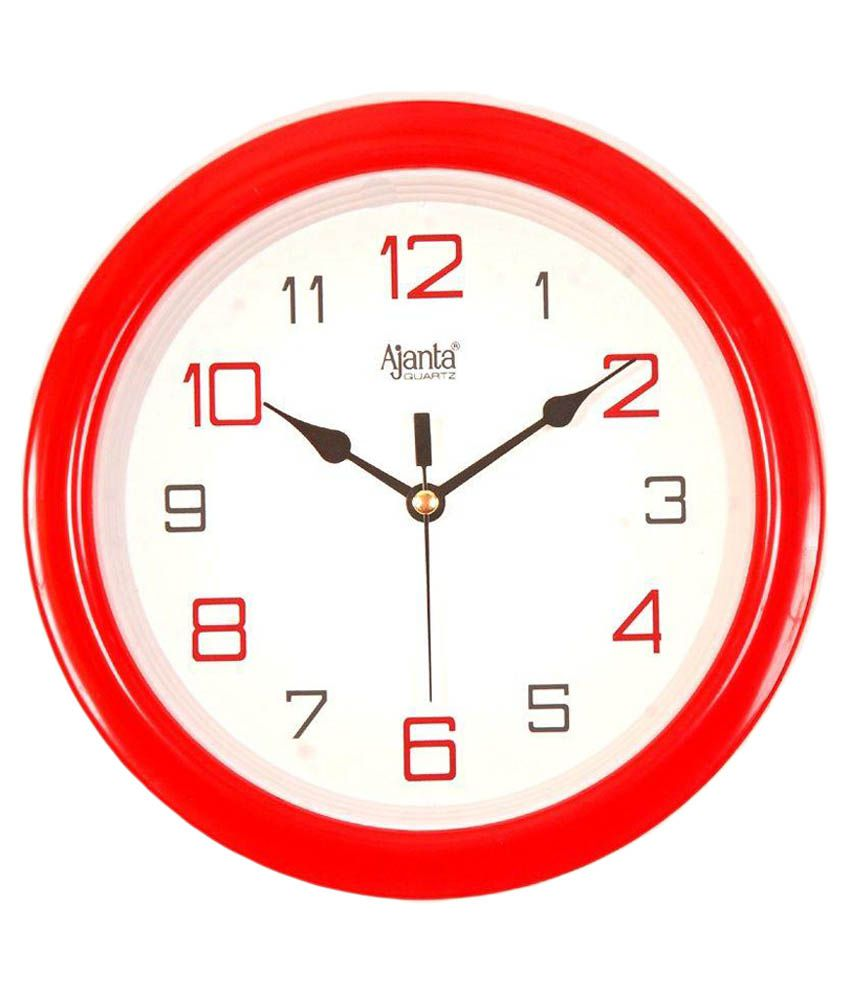 Ajanta Red Wall Clock: Buy Ajanta Red Wall Clock at Best ...