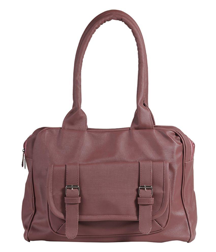 Blossom Trendz Tan Faux Leather Shoulder Bag