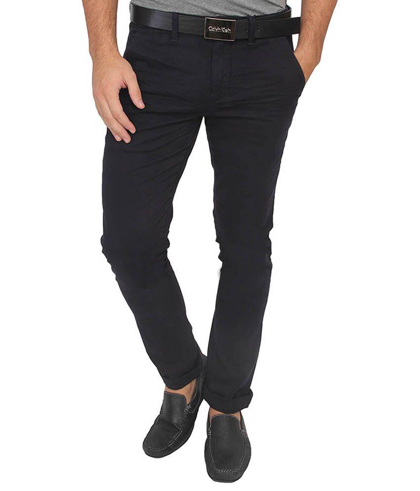 Calvin Klein Blue Slim Fit Chinos