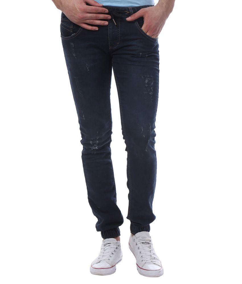Vintage Navy Slim Fit Jogger Jeans