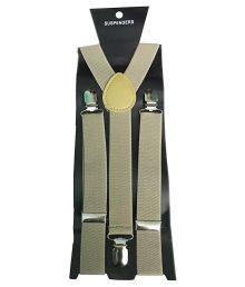 Atyourdoor Elastic & Leather Beige Y- Back Suspender For Men