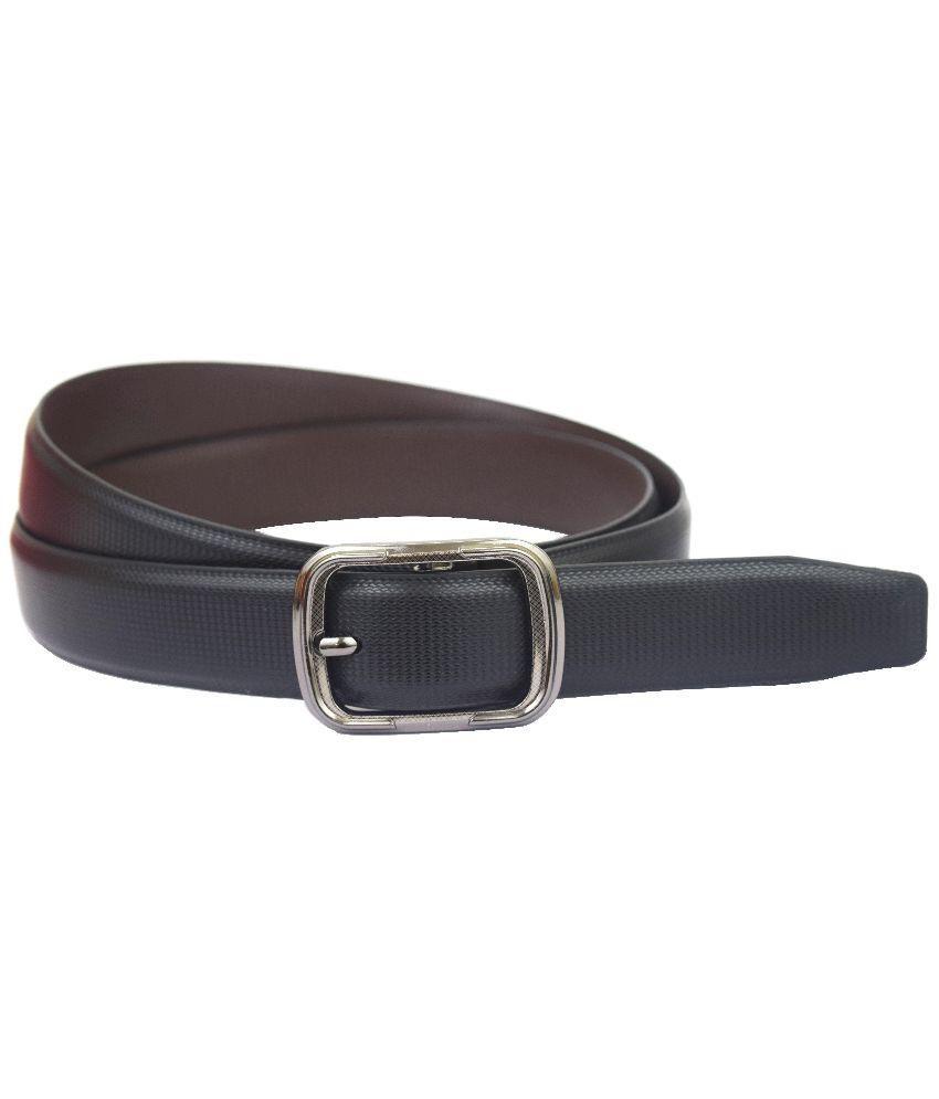 Abhinavs Black Leather Belt For Men