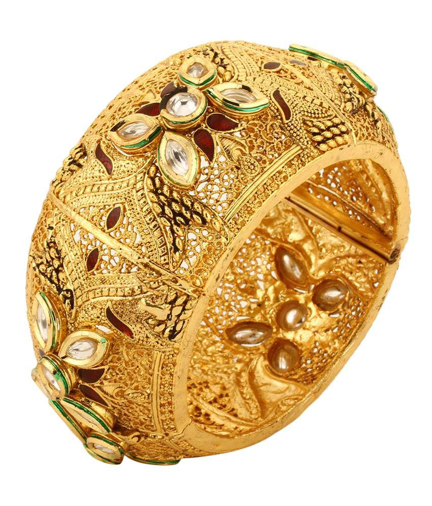 Dilan Jewels Golden Kundan Designer Kada