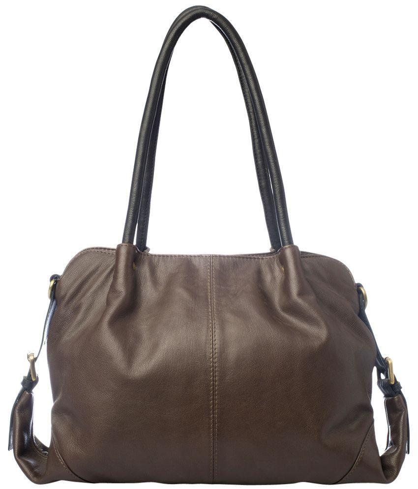 Romari Brown Leather Shoulder Bag
