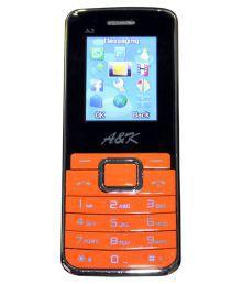 A&K A&KA2 OB  256 MB DUAL SIM GSM MOBILE PHONE Below 256 MB Fruity Orange
