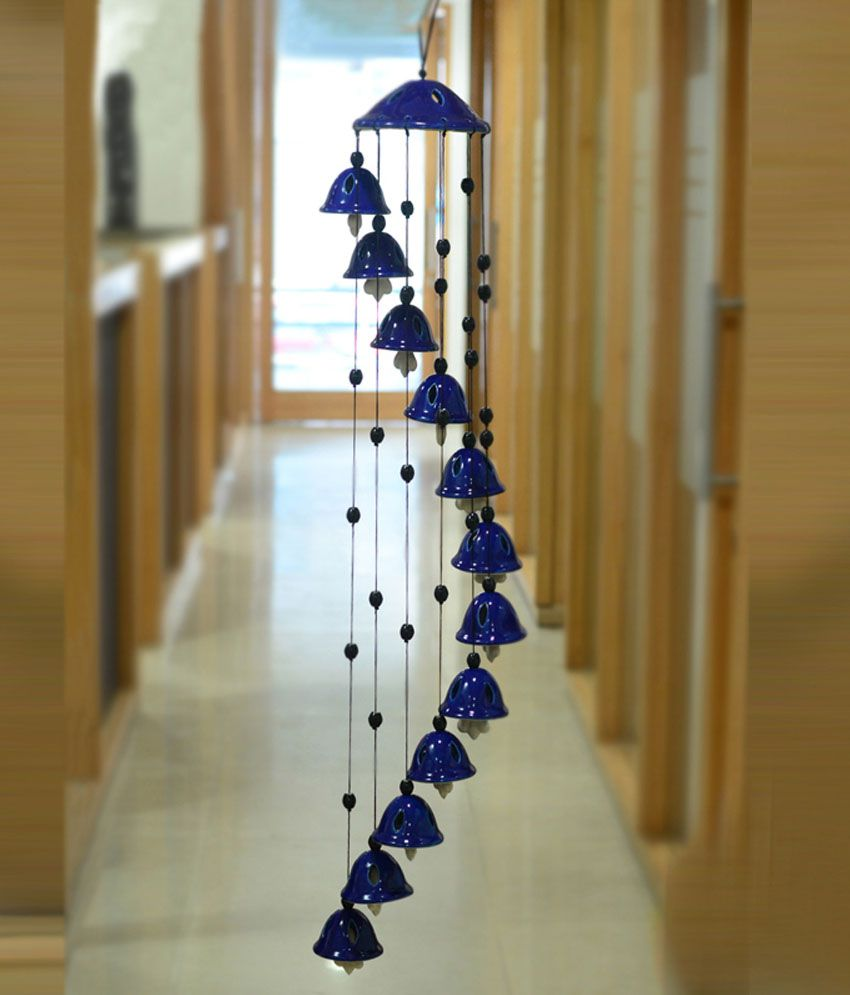 Hanging Home Decor: ExclusiveLane Melodious Sound Ceramic Wind Chimes Ceramic