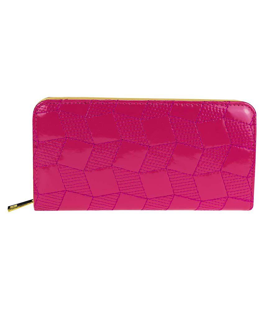 Zeva Pink Regular Wallet For Women