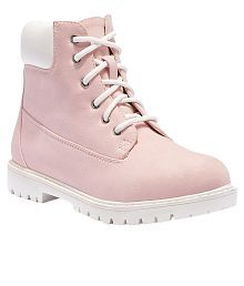 Truffle Collection Pink Ankle Length Boots