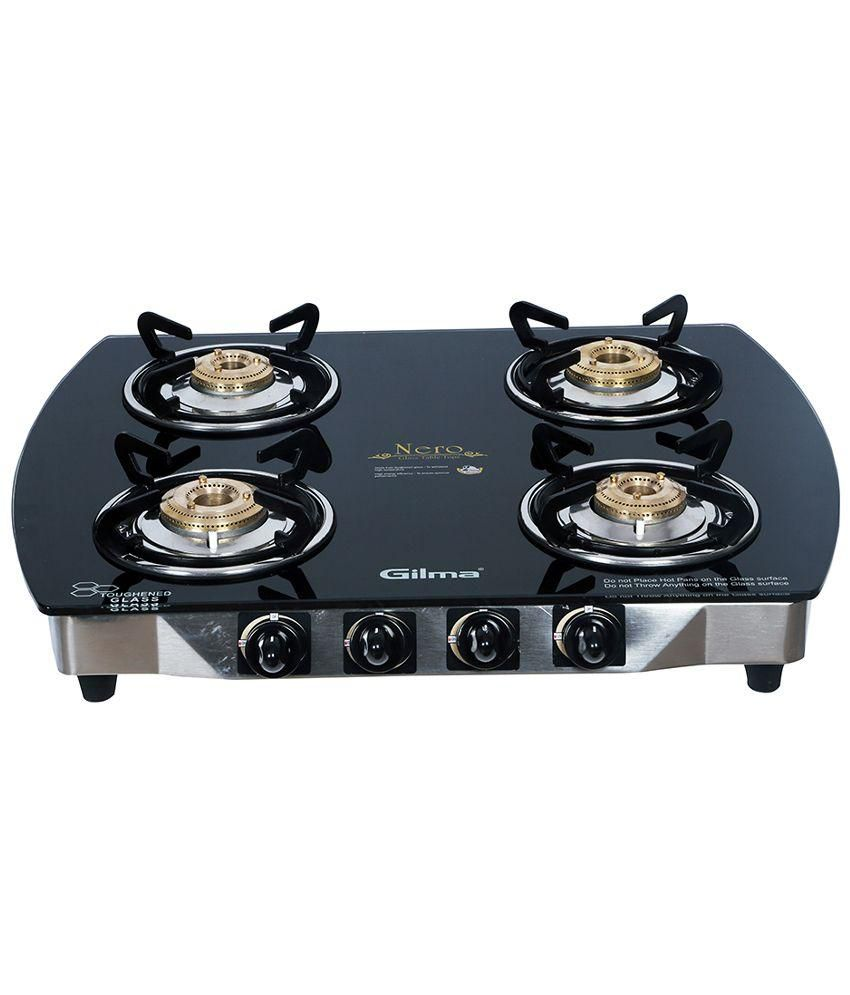 Gilma Nero Auto Ignition Gas Cooktop (4 Burner)