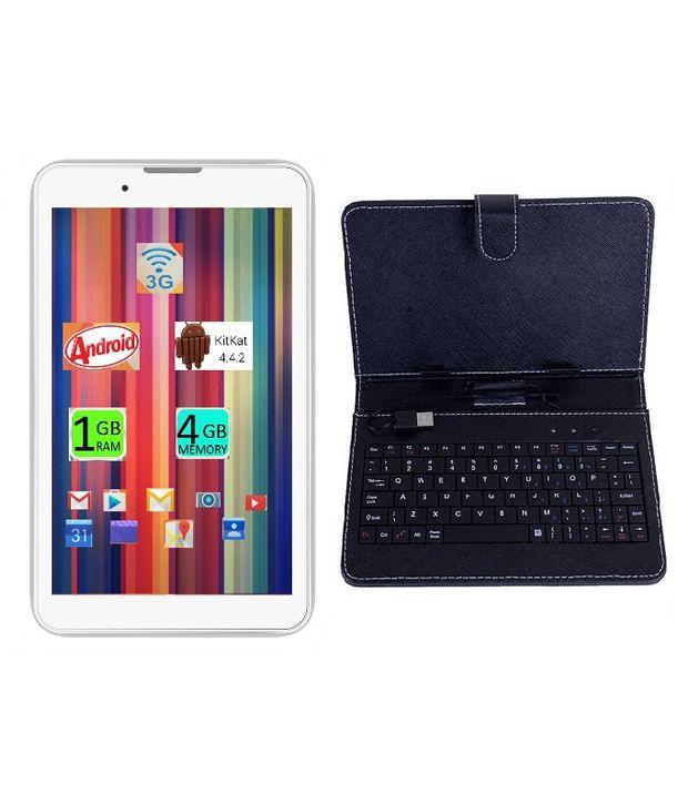 I Kall IK1 (3G + Wifi, Calling, White) with Keyboard