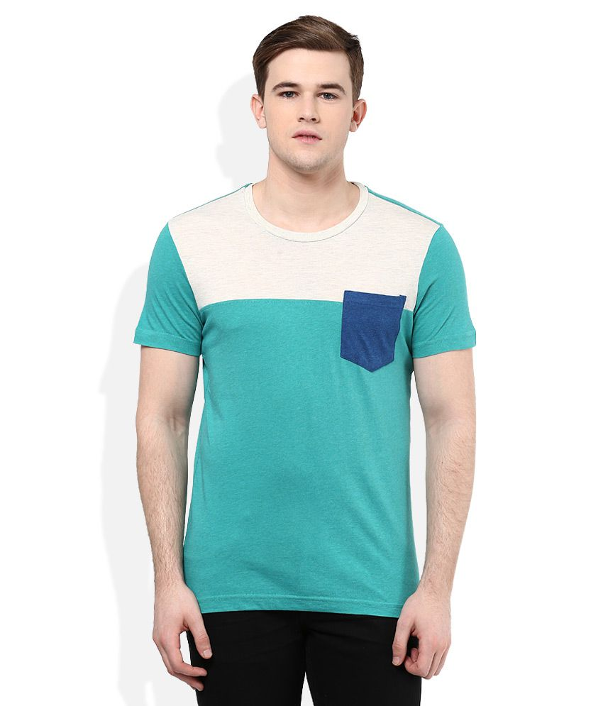 United Colors of Benetton Green Round Neck T Shirt