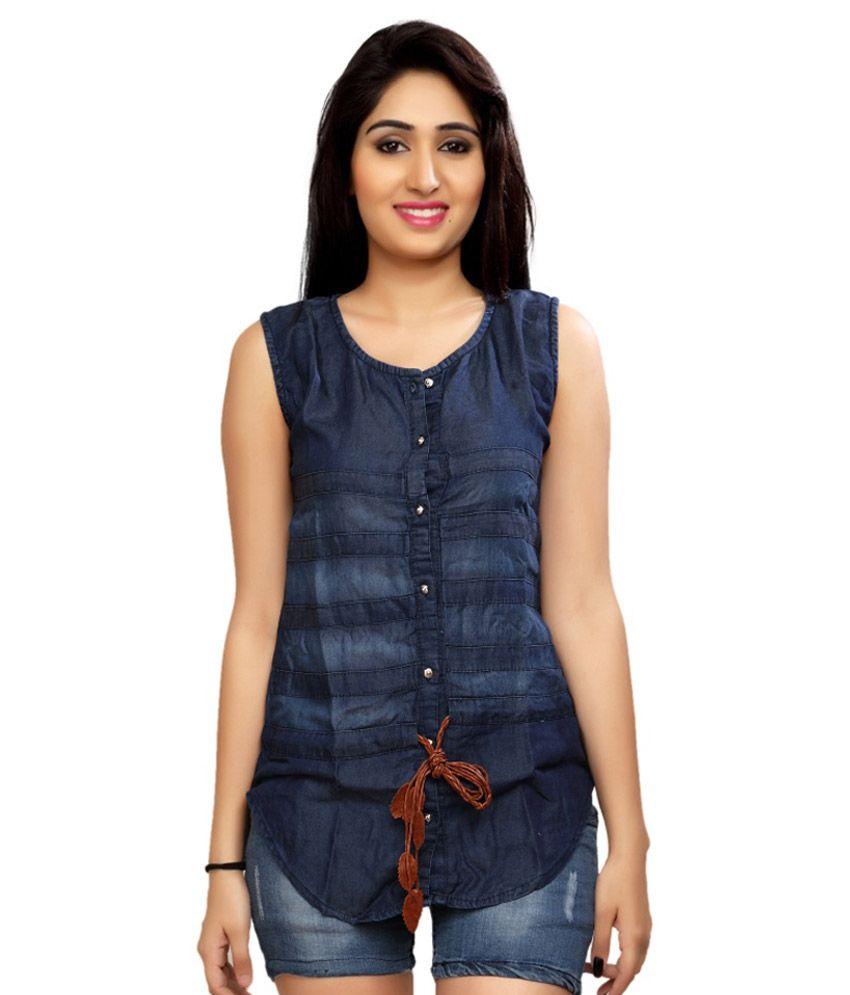 Buy carrel navy denim shirts online at best prices in for Buy denim shirts online