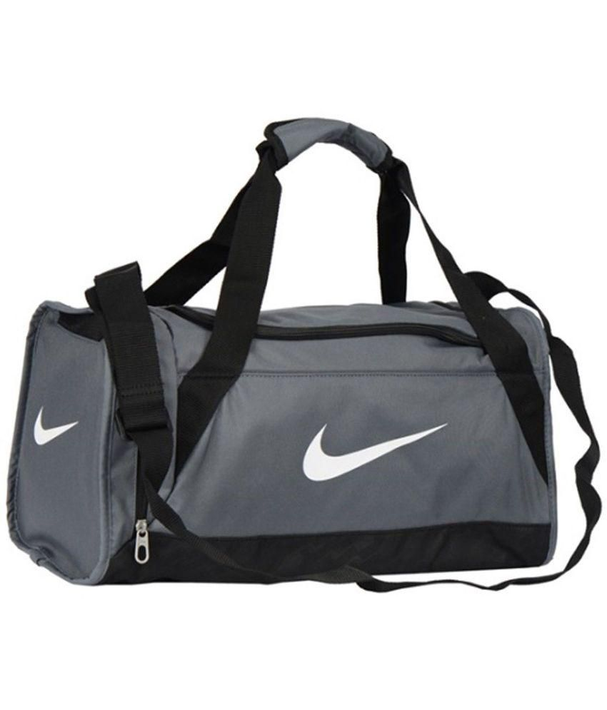 26575218e83b Nike Gray Polyester Gym Bag - Buy Nike Gray Polyester Gym Bag Online at Low  Price - Snapdeal