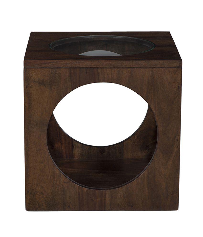 Ramayan Exim Miyon Solid Wood End Table