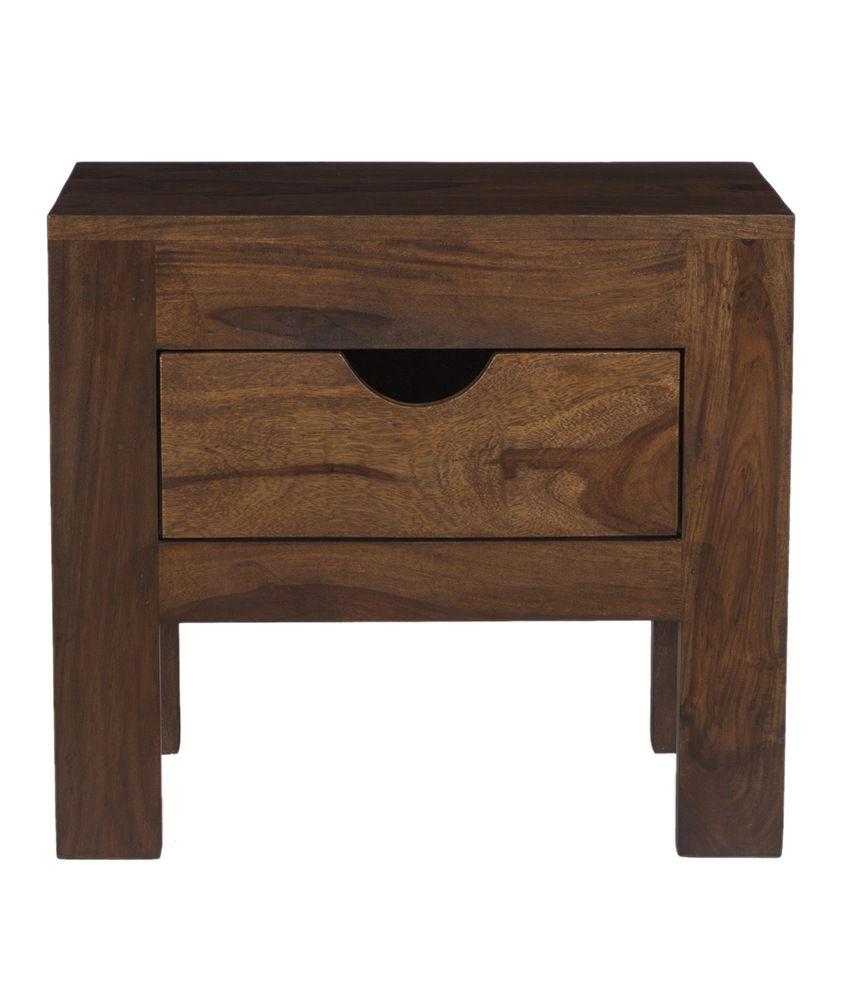Ramayan Exim Oliva Solid Wood Bedside Table