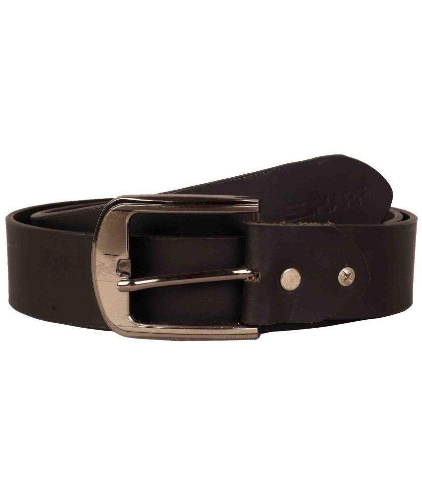 Scharf Black Leather Belt for Men