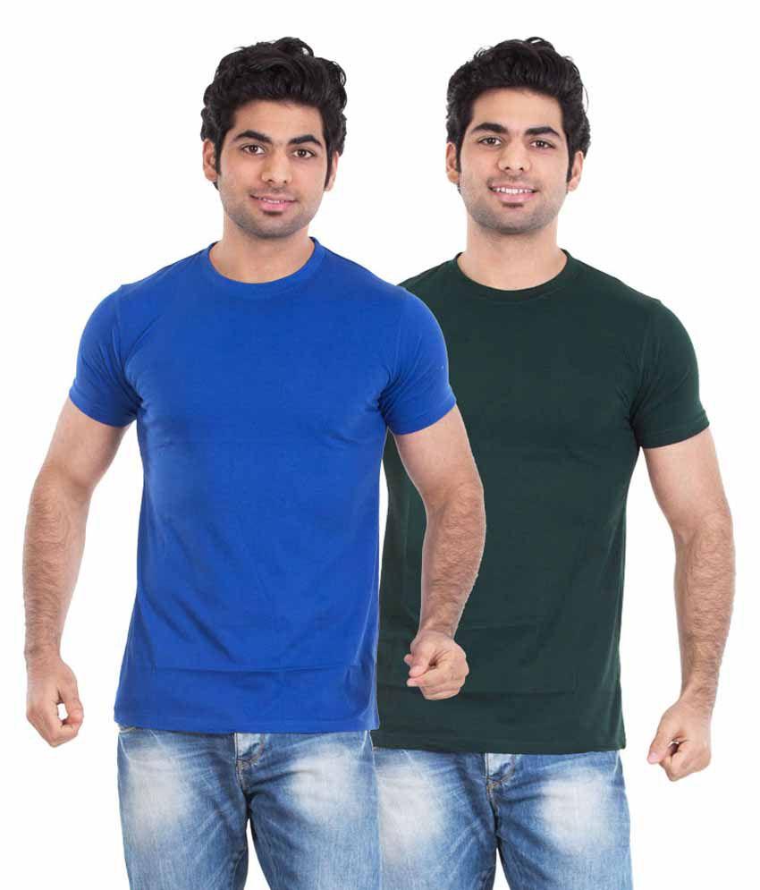 Kkoir Multi Round T Shirt Pack Of 2