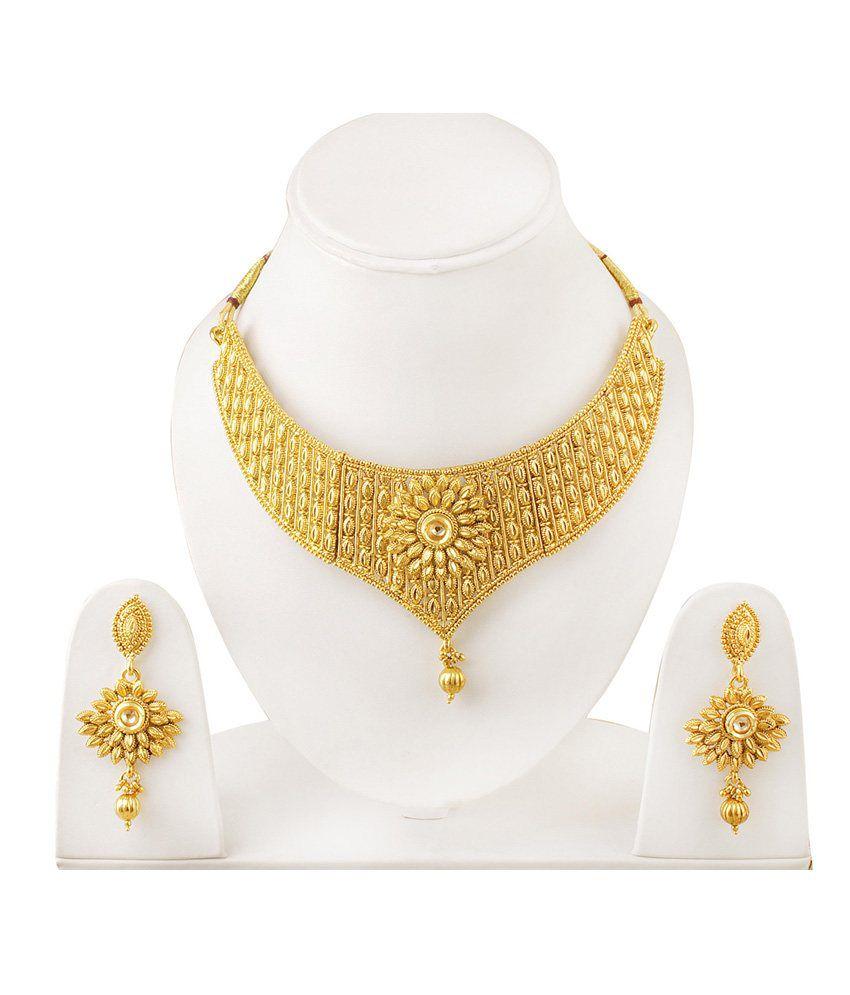Takspin Golden Alloy Necklace & Sets