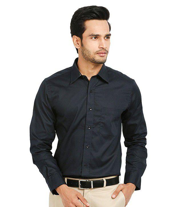 Zoic Black Formal Regular Fit Shirt
