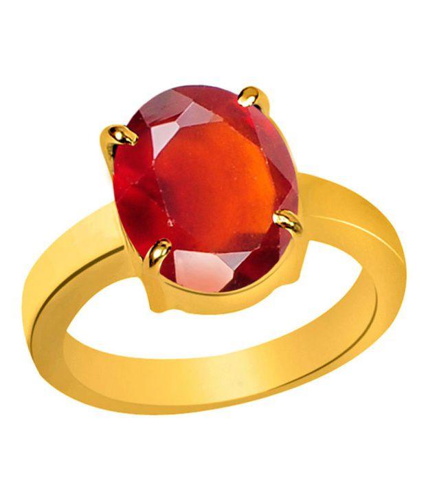 Clara Gomed Hessonite 7.5 Carat (8.25 Ratti) Panchdhatu Gold Plated Astrological Ring For Men & Women
