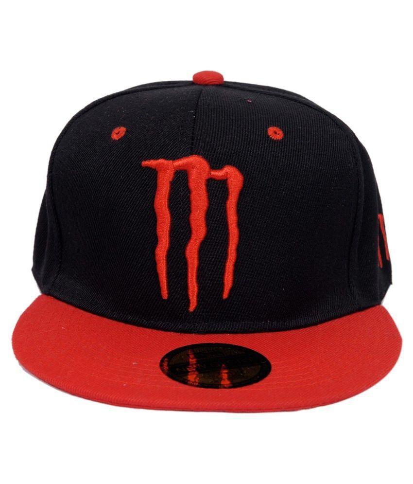 Guru Kirpa Black and Red Polyester Baseball Cap