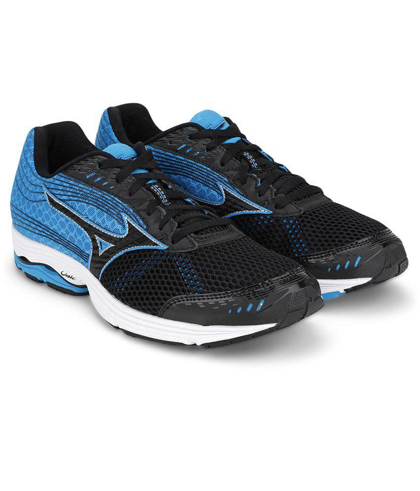 065dabaf7366 Mizuno Wave Sayonara 3 Running Shoes (Black / Black / Atomic Blue) - Buy Mizuno  Wave Sayonara 3 Running Shoes (Black / Black / Atomic Blue) Online at Best  ...