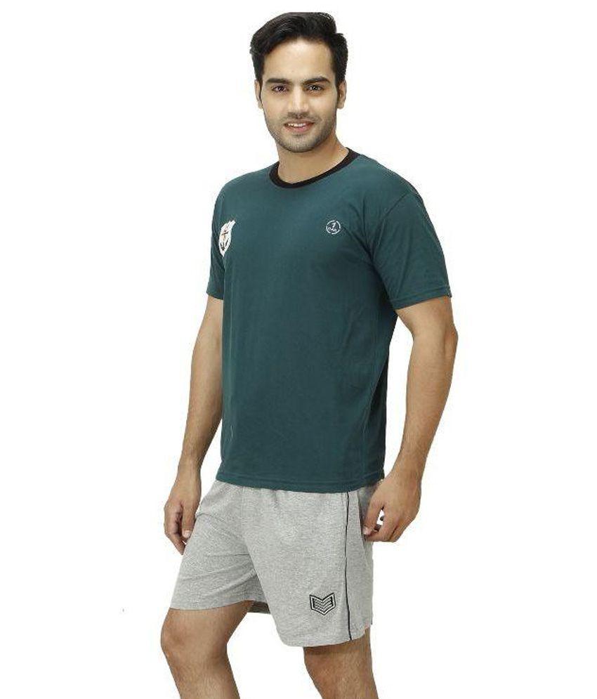 1OAK Green Round T Shirt