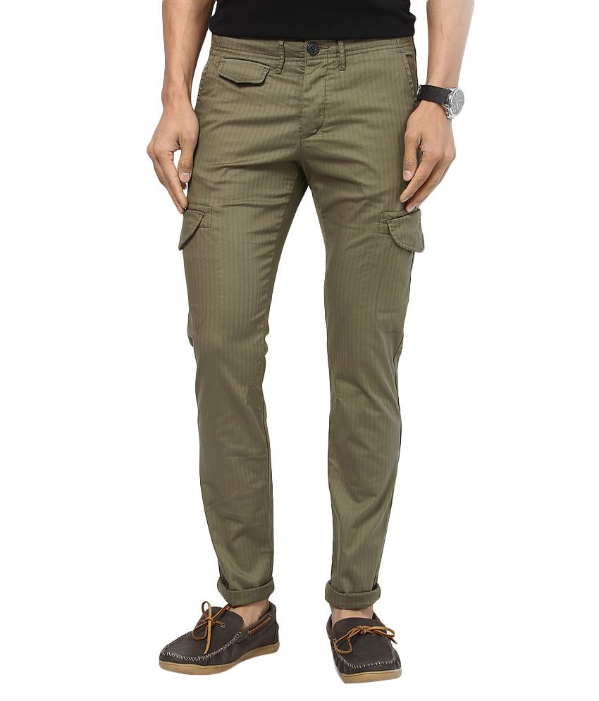 Jack & Jones Green Slim Fit Trousers