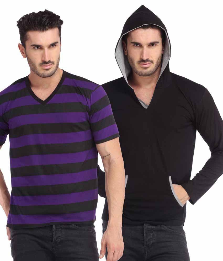 Leana Multi Henley T Shirt