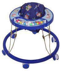 Little King Blue Plastic Baby Walker
